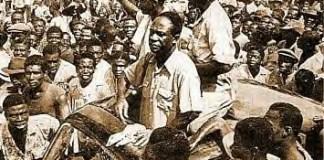 Kwame Nkrumah leaving prison, Feb. 1951