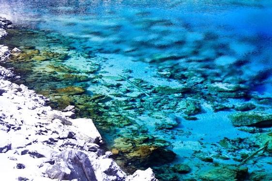 A lake at the Jiuzhaigou scenic area. (Photo from the official website of the Jiuzhaigou scenic area)