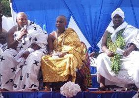 Nii Benjamin Kojo Yemo (1st left) speaking at the event