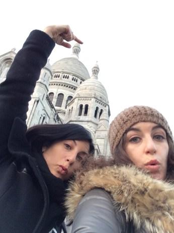 Sacré Coeur silly selfie!