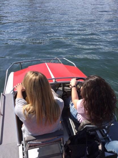 Paddling away on Lake Zurich