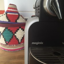 Berber basket, currently being used to hold my Nespresso pods!