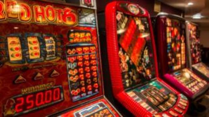 Slot machines in a uk pub