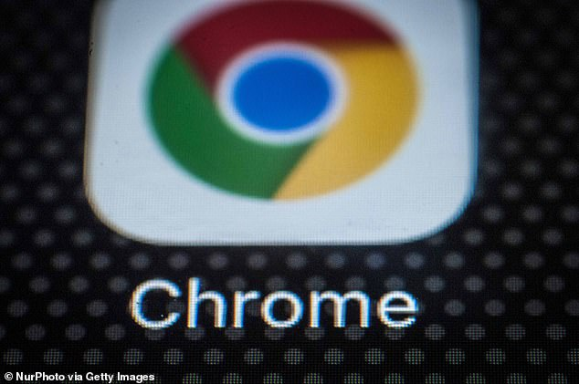 Google has warned users to update Chrome immediately if they don't want their system hijacked (stock image). A security risk known as'CVE-2019-5786' was revealed by hackers and left browsers exposed while the company created an updated version Chrome with bug fixes