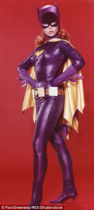 Vintage Batgirl: The character was memorably played on television in the mid-1960s by Yvonne Craig (left) and in movies by Alicia Silverstone (right) in 1997's Batman And Robin