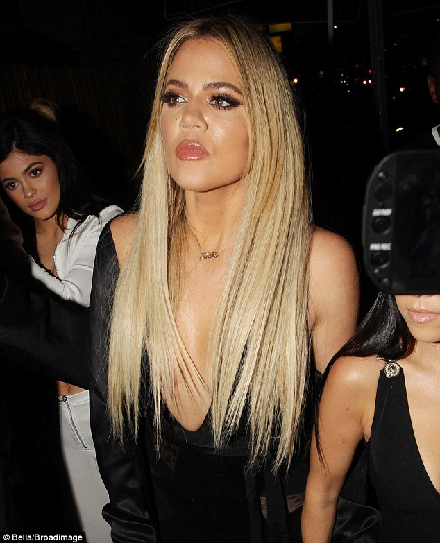 Girl time: The reality star had said previously she was looking forward to a night on the town on Friday. She's pictured Thursday night at Gigi Hadid's birthday party at The Nice Guy