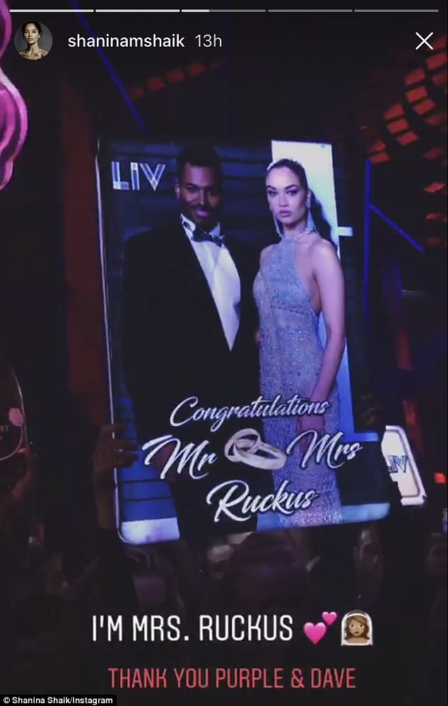The party continues! The couple were seen keeping the festivities alive on Monday at a reception at the world famous LIV nightclub in Miami Beach, Florida