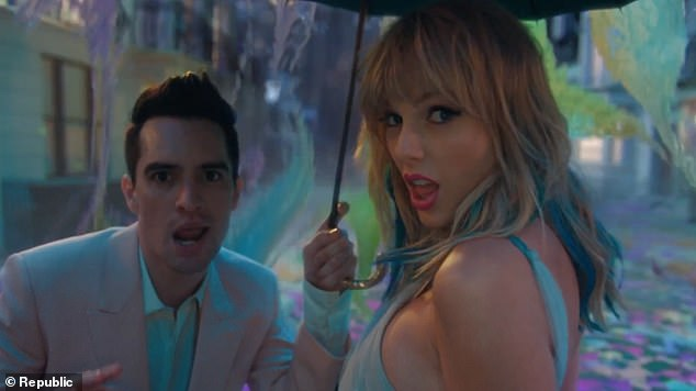'I have to step up every time I'm around him': Taylor Swift (R) revealed what it was like filming with Brendon Urie (L) for ME! video clip while speaking to Kent Andrew 'Smallzy' Small on Nova's Smallzy's Surgery on Monday