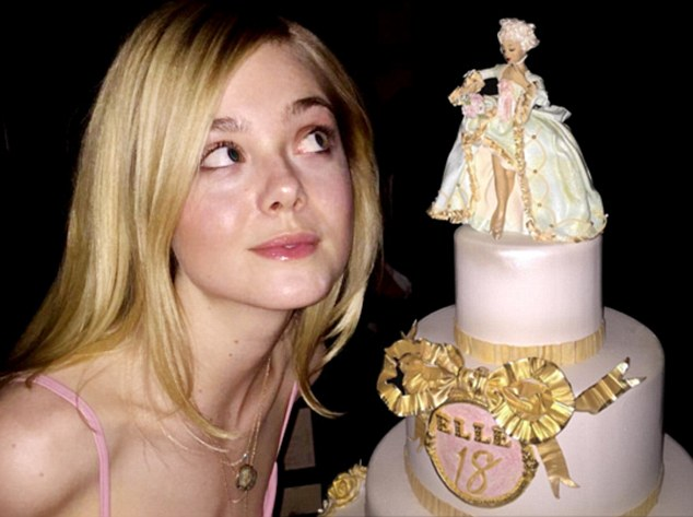 Happy Birthday: The young starlet celebrated her birthday with a pink cake and a surprise announcement
