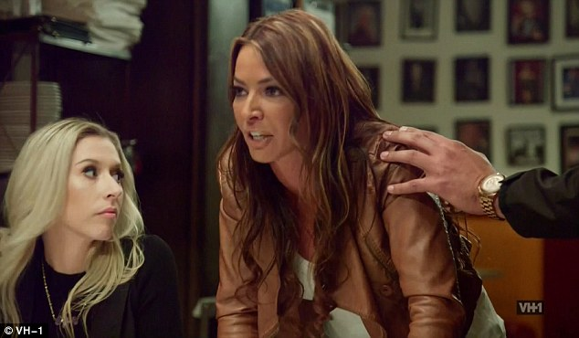 Boiling over: Drita D'Avanzo could hardly contain her anger as she attempted to settle her differences with Karen Gravano and Marissa Fiore
