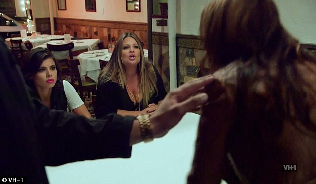 War of words: Karen and Drita didn't hold back as their conversation quickly escalated