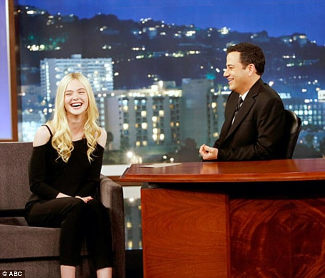 School Daze: Elle Fanning chats about school and boys during a visit to Jimmy Kimmel in May of 2014