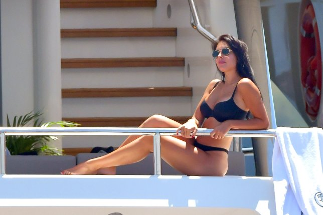 Cristiano Ronaldo and his girlfriend Georgina Rodriguez continue their luxury holiday on a yacht in Antibes