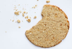 crumbled oat biscuit