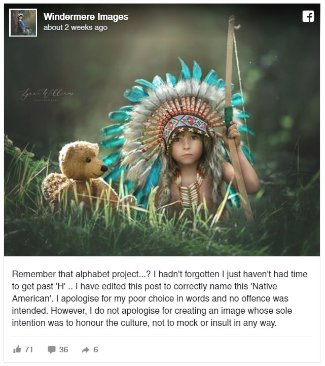 Photographers Are to Blame: A Case of Native Cultural Appropriation