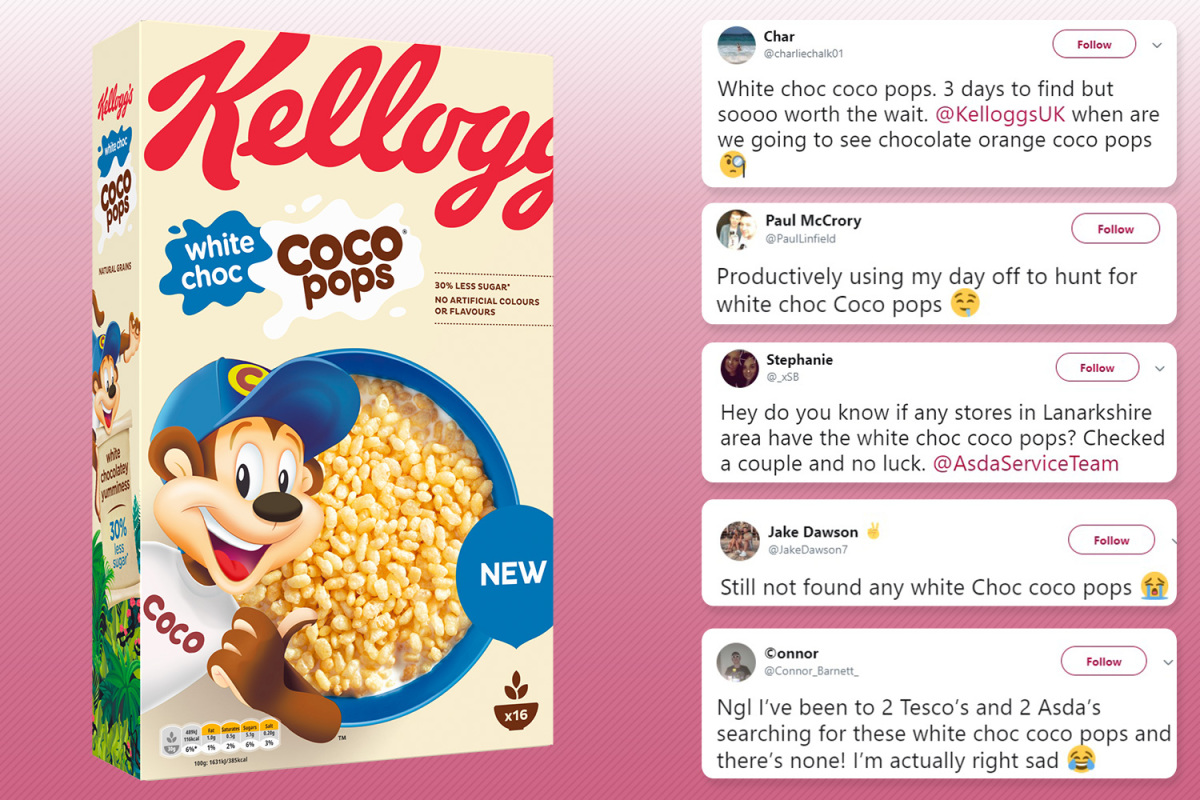 8bdc109f2a20 Coco Pops fans furious as Kellogg's white chocolate cereal sells out with  boxes on eBay for TRIPLE the price
