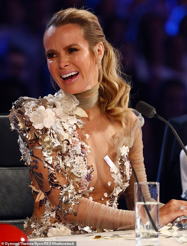 Honest: Amanda Holden has opened up about how being selected as a judge on Britain's Got Talent saved her from her past reputation as a 'cheating wife'