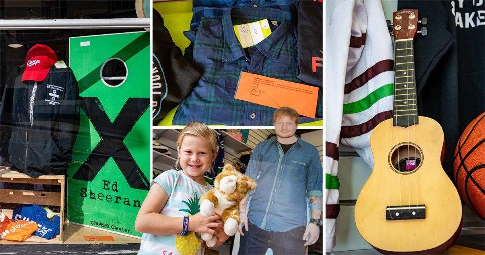 Ed Sheeran's donated belongings