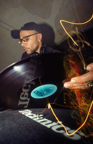 Goldie DJing in the 90s