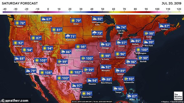 The US's warm weather had been caused by a high-pressure dome building up over much of the country, trapping the summer heat