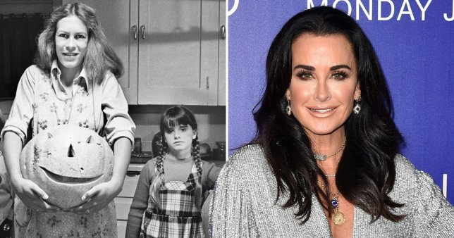 Kyle Richards and Jamie Lee Curtis in Halloween, and Kyle Richards alone