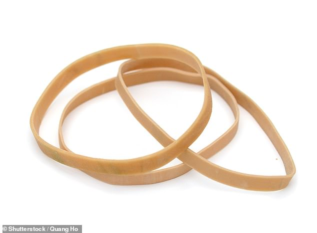 A 65-year-old patient seen by doctors in Tokyo had wrapped an elastic band around the base of his penis in a desperate attempt to stop the spread of skin cancer tumours (stock image)