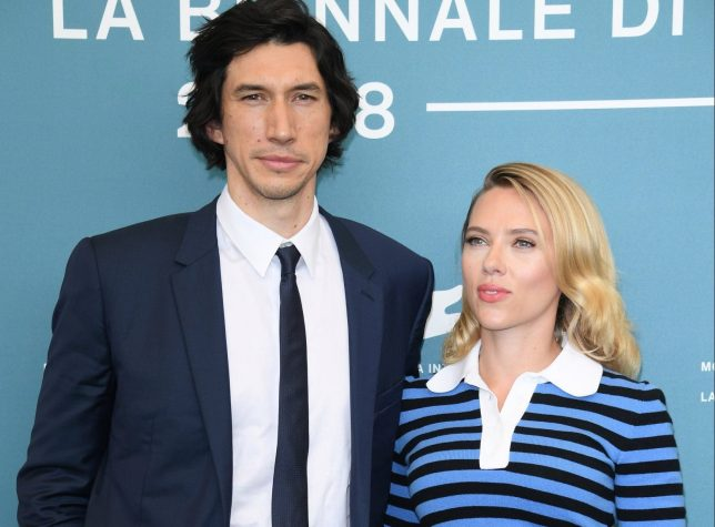 """VENICE, ITALY - AUGUST 29: Adam Driver and Scarlett Johansson attend the """"Marriage Story"""" photocall during the 76th Venice Film Festival at Sala Grande on August 29, 2019 in Venice, Italy. (Photo by Daniele Venturelli/WireImage)"""