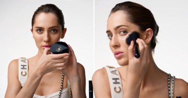 Teddy Quinlivan - Chanel's first openly transgender model putting on makeup