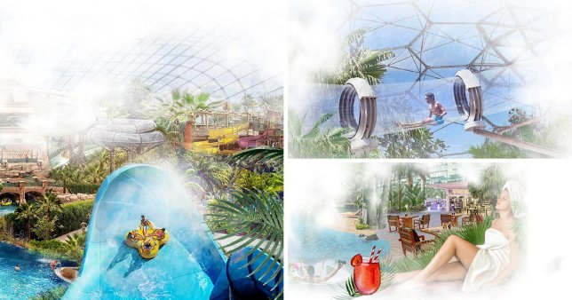 Concept artwork of Elysium Waterpark set to open in Bournemouth