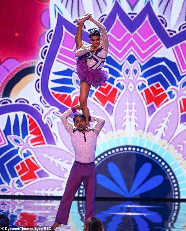They got moves!Bad Salsa Sonali and Sarder also stunned with an incredible acrobatic dance routine after competing on India's Got Talent