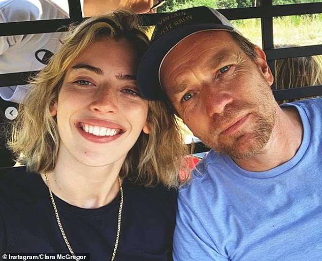 All smiles: His outing comes four months after he posed for a smiley selfie with his daughter Clara in Scotland, following their public spat after he moved from his relationship with her mother and began dating actress Mary Elizabeth Winstead
