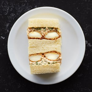 That will be £10.50: The 'egg mayo' katsu sando, at TOU, in the Food Arcade Theatre, London.