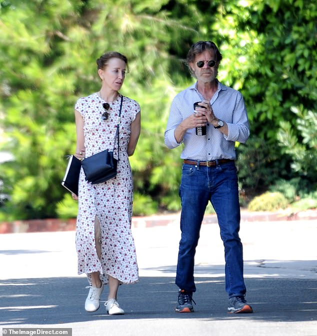 Casual outing: The couple stepped out on Sunday together to head to a friend's barbecue