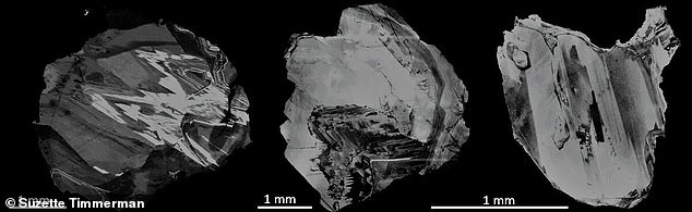 A study brought together researchers from the UK, Canada, Australia and Brazil to study the diamonds expelled from the surface volcano (pictured). The presence of certain helium isotopes found them to be from 250 miles deep and likely 4.5 billion years old