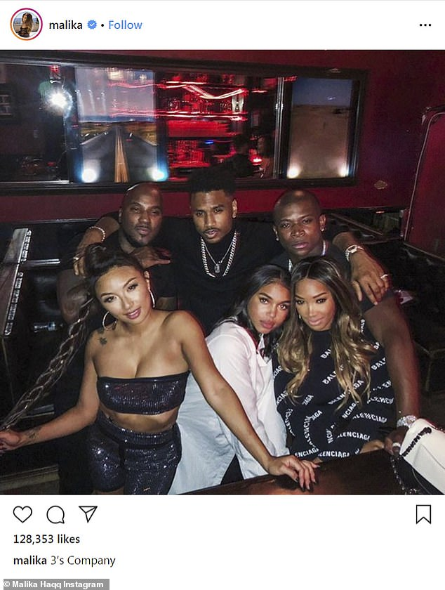 Secret's out:Rumors started to fly that they were dating back in 2018 when Khloe Kardashian's best friend Malika Haqq shared a photo of them next to her and her boyfriend O.T. Genasis, Lori Harvey and Trey Songz