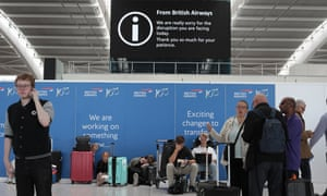 Flight delays at Heathrow in August after an IT failure.