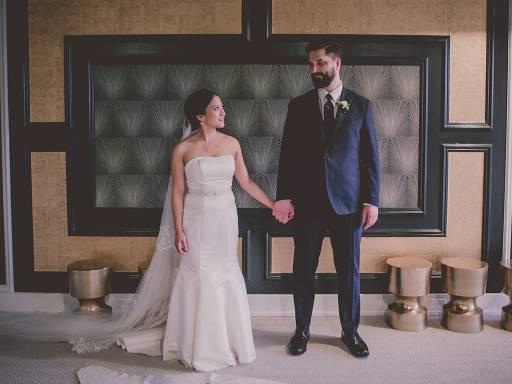 Carolina and Mark Gonzaga on their wedding day.
