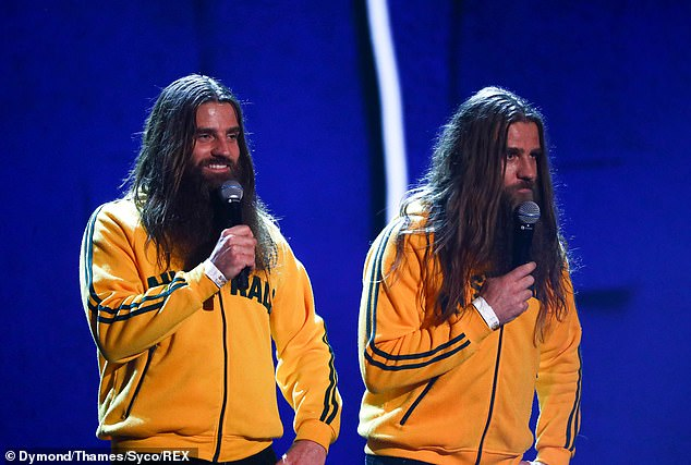 Funnymen:The Nelson Twins also left the judges in hysterics after travelling all the way from Australian with their comical double act