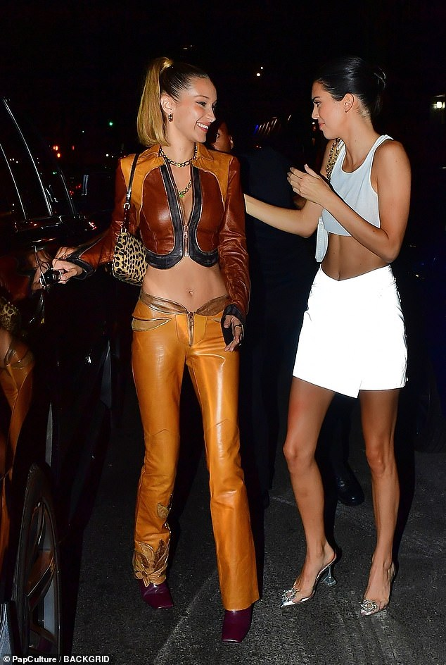 Hitting the town:Bella Hadid and Kendall Jenner enjoyed a night out amid the hectic schedule of New York Fashion Week, showing off their model figures as they partied on Monday
