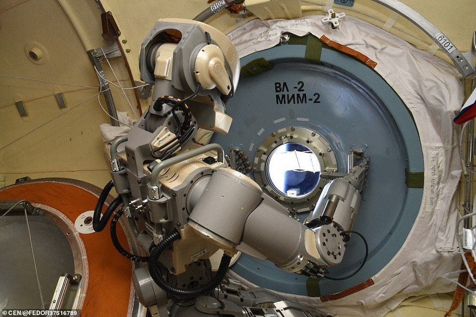 Russia's pioneering humanoid robot Fedor has started assisting astronauts on board the International Space Station. Video footage reveals the six-foot tall robot holding a towel and a drill