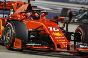 Leclerc, told to pit for new tyres.