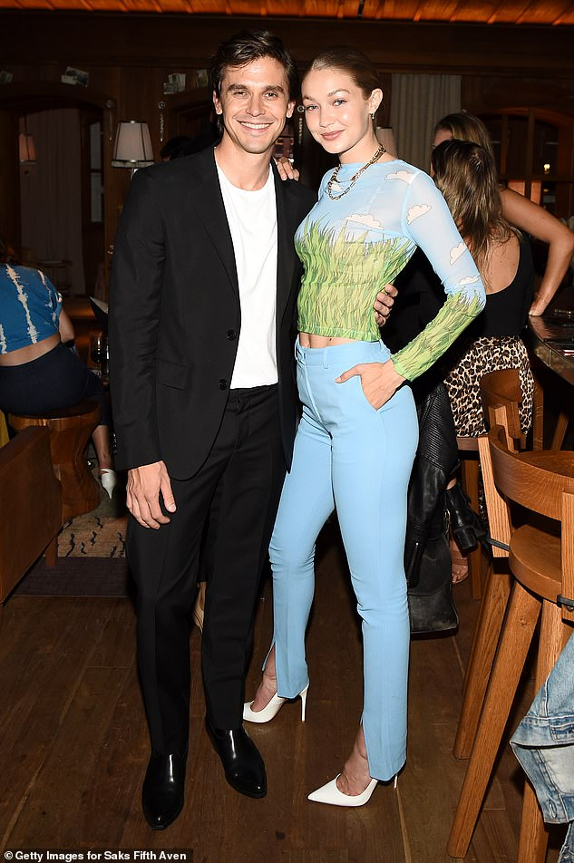 Runs in the family: Gigi was also showing off her abs as she marked another day of NYFW