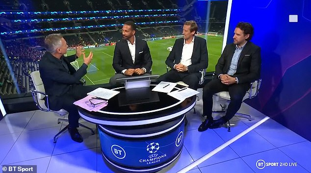 Important questions:But football talk was brushed to one side as Lineker addressed the elephant in the room ahead ofTottenham Hotspur's home match against Bayern Munich