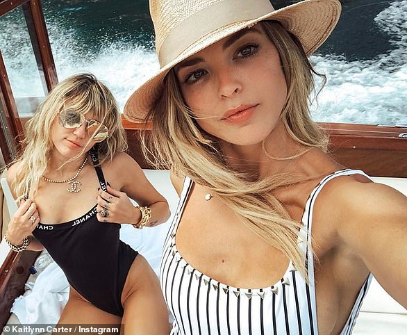 Globetrotting:Miley's romance with Kaitlynn Carter, the ex of Brody Jenner, went public during their Italian vacation in August