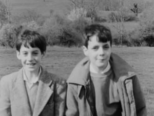 Game … a screengrab from Grandfather's Footsteps, 1983, with Jacob, left, and brother Thomas.