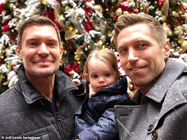 The way they were:Jeff, who is 15 years older than Gage, was with him for 10 years before they split in February precipitating a custody battle over Monroe; pictured in 2017