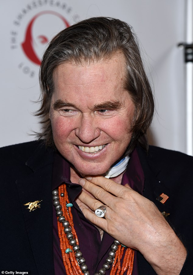Frail: Kilmer has made limited public appearances for the past several years as he underwent treatment for throat cancer which included a procedure on his trachea