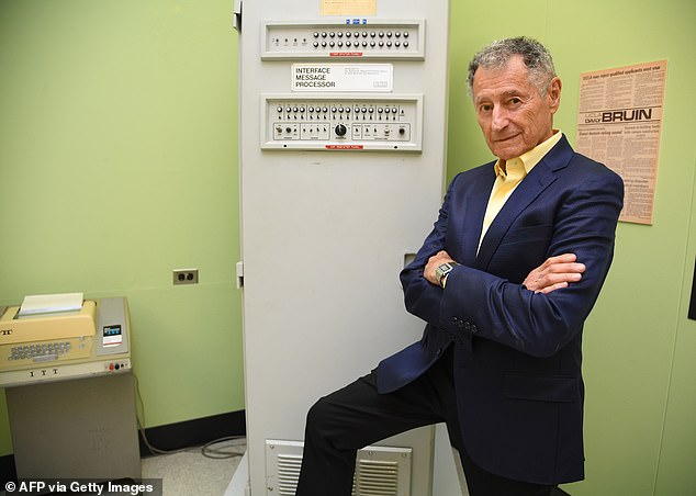 Leonard Kleinrock (pictured), who is a professor at the University of California-Los Angeles (UCLA), developed the mathematical theory behind packet switching and who sent the first message between two computers on a network that was a precursor of the Internet