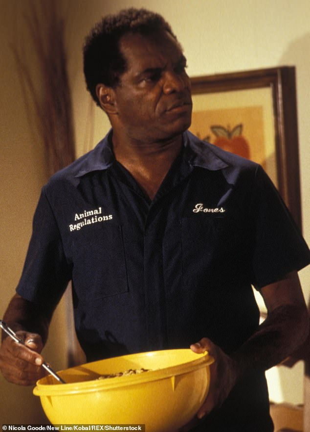 Weekend warrior: Witherspoon is probably best known for his role in Friday, where he played curmudgeonly Mr. Jones opposite Ice Cube and Chris Tucker, seen above