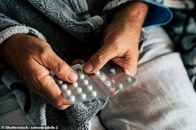 Older patients are often unable to process strong pills yet can be prescribed between ten and 20 different types of medication at once (stock image)